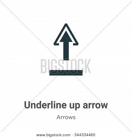 Underline up arrow icon isolated on white background from arrows collection. Underline up arrow icon