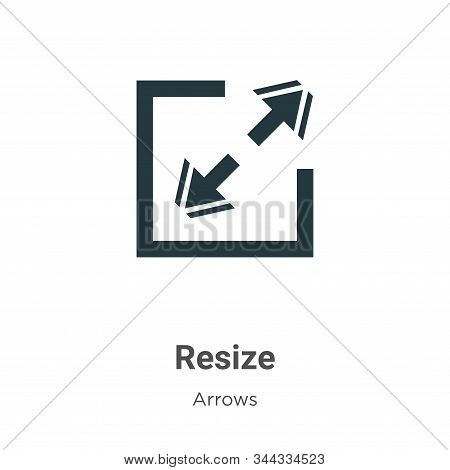 Resize Vector Icon On White Background. Flat Vector Resize Icon Symbol Sign From Modern Arrows Colle