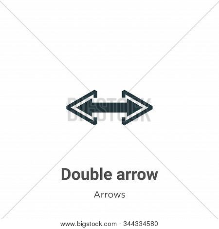 Double arrow icon isolated on white background from arrows collection. Double arrow icon trendy and