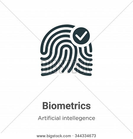 Biometrics icon isolated on white background from artificial intellegence and future technology coll