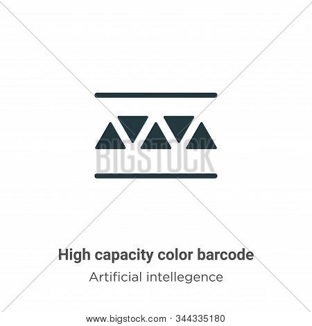 High capacity color barcode vector icon isolated on white background from modern artificial intelleg