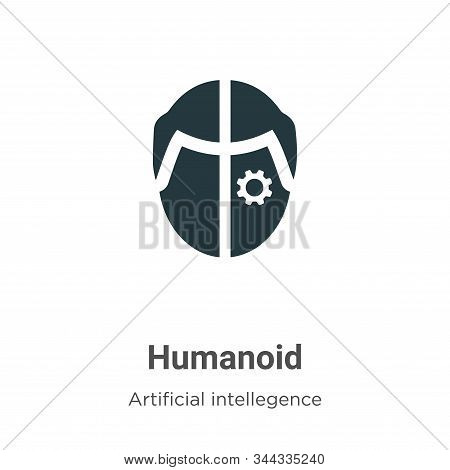 Humanoid Vector Icon On White Background. Flat Vector Humanoid Icon Symbol Sign From Modern Artifici