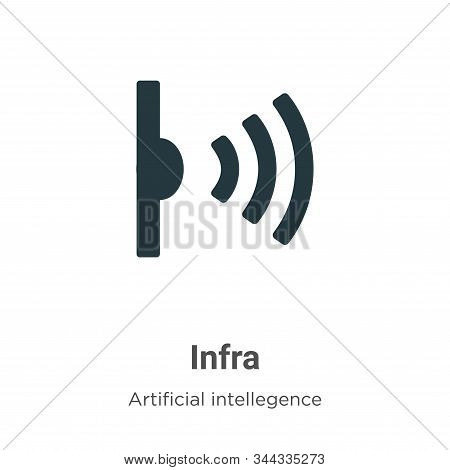 Infrared icon isolated on white background from artificial intellegence and future technology collec