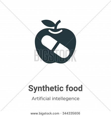 Synthetic food icon isolated on white background from artificial intellegence and future technology