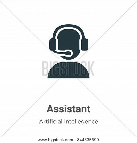 Assistant icon isolated on white background from artificial intelligence collection. Assistant icon