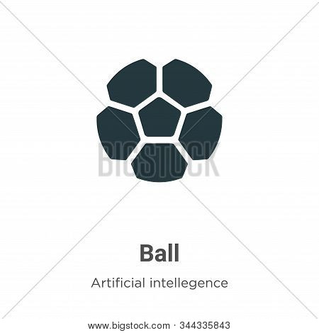 Ball icon isolated on white background from artificial intelligence collection. Ball icon trendy and