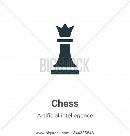Chess icon isolated on white background from artificial intelligence collection. Chess icon trendy a