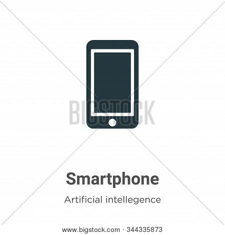Smartphone icon isolated on white background from artificial intelligence collection. Smartphone ico