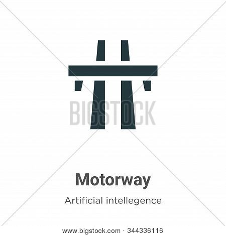 Motorway icon isolated on white background from artificial intelligence collection. Motorway icon tr