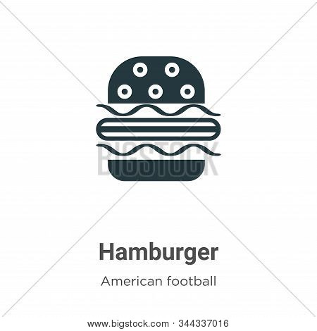Hamburger icon isolated on white background from american football collection. Hamburger icon trendy