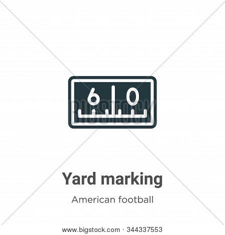 Yard marking icon isolated on white background from american football collection. Yard marking icon