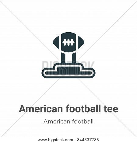 American football tee icon isolated on white background from american football collection. American
