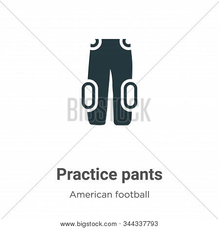 Practice pants icon isolated on white background from american football collection. Practice pants i
