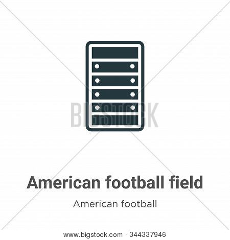 American football field icon isolated on white background from american football collection. America