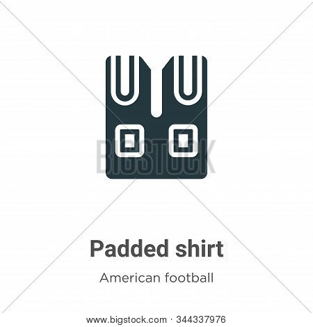 Padded shirt icon isolated on white background from american football collection. Padded shirt icon
