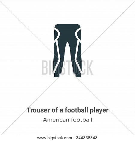 Trouser of a football player icon isolated on white background from american football collection. Tr