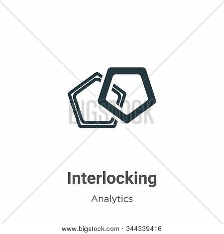 Interlocking icon isolated on white background from analytics collection. Interlocking icon trendy a