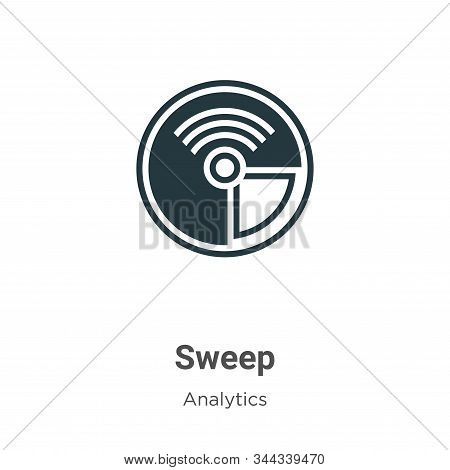Sweep icon isolated on white background from analytics collection. Sweep icon trendy and modern Swee