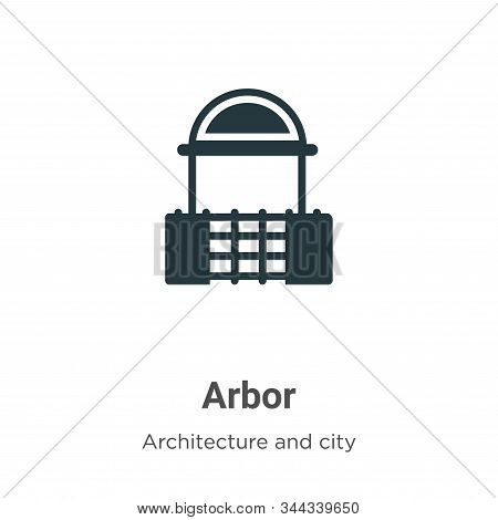 Arbor icon isolated on white background from architecture and city collection. Arbor icon trendy and
