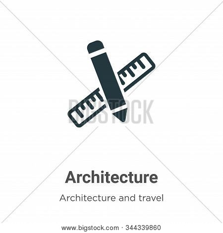 Architecture icon isolated on white background from architecture and travel collection. Architecture