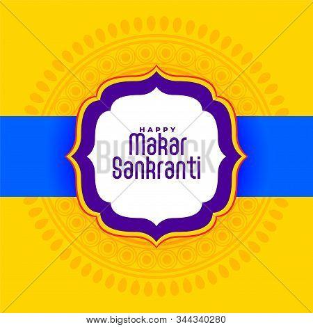 Indian Happy Makar Sankranti Festival Yellow Background