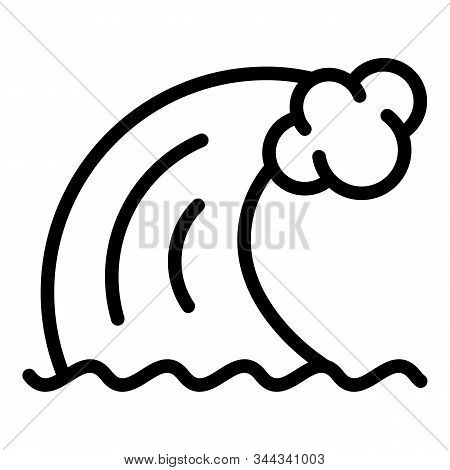Natural Tsunami Wave Icon. Outline Natural Tsunami Wave Vector Icon For Web Design Isolated On White