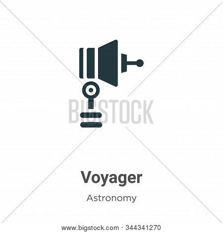 Voyager Vector Icon On White Background. Flat Vector Voyager Icon Symbol Sign From Modern Astronomy