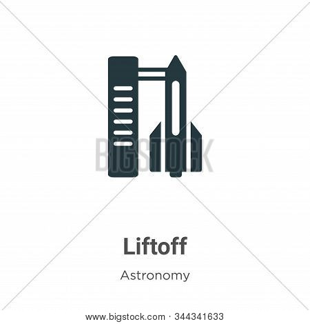 Liftoff icon isolated on white background from astronomy collection. Liftoff icon trendy and modern
