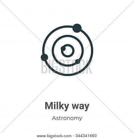 Milky way icon isolated on white background from astronomy collection. Milky way icon trendy and mod