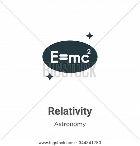 Relativity icon isolated on white background from astronomy collection. Relativity icon trendy and m