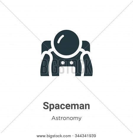 Spaceman icon isolated on white background from astronomy collection. Spaceman icon trendy and moder
