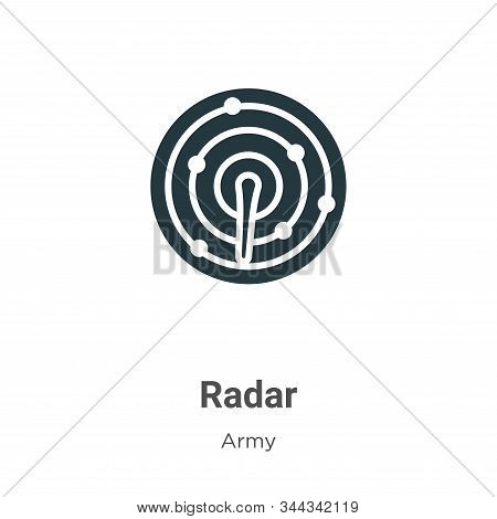 Radar icon isolated on white background from army collection. Radar icon trendy and modern Radar sym