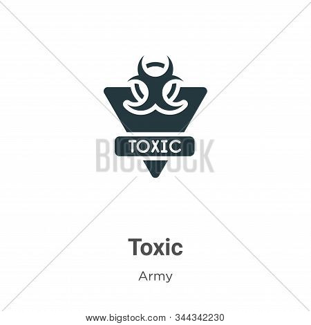 Toxic icon isolated on white background from army collection. Toxic icon trendy and modern Toxic sym