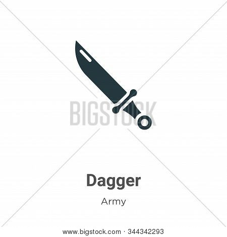 Dagger icon isolated on white background from army collection. Dagger icon trendy and modern Dagger