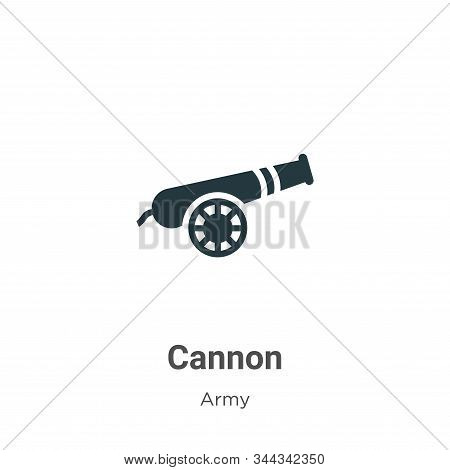 Cannon icon isolated on white background from army collection. Cannon icon trendy and modern Cannon