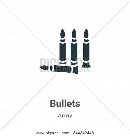 Bullets icon isolated on white background from army collection. Bullets icon trendy and modern Bulle