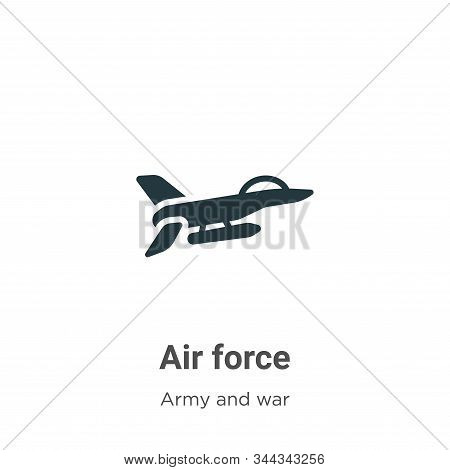 Air force icon isolated on white background from army and war collection. Air force icon trendy and