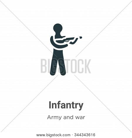Infantry icon isolated on white background from army and war collection. Infantry icon trendy and mo