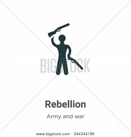 Rebellion icon isolated on white background from army and war collection. Rebellion icon trendy and