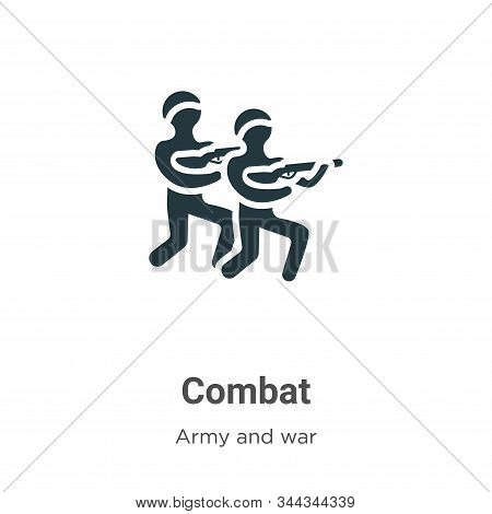 Combat Vector Icon On White Background. Flat Vector Combat Icon Symbol Sign From Modern Army And War