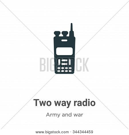Two way radio icon isolated on white background from army and war collection. Two way radio icon tre