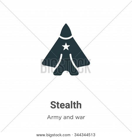 Stealth icon isolated on white background from army and war collection. Stealth icon trendy and mode