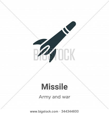 Missile icon isolated on white background from army collection. Missile icon trendy and modern Missi