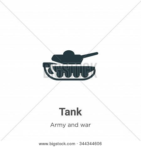 Tank icon isolated on white background from army collection. Tank icon trendy and modern Tank symbol