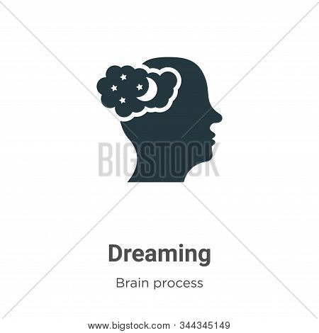 Dreaming icon isolated on white background from brain process collection. Dreaming icon trendy and m