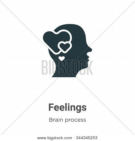 Feelings Vector Icon On White Background. Flat Vector Feelings Icon Symbol Sign From Modern Brain Pr