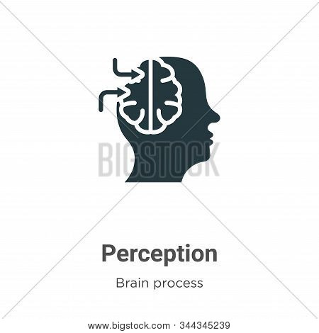 Perception Vector Icon On White Background. Flat Vector Perception Icon Symbol Sign From Modern Brai