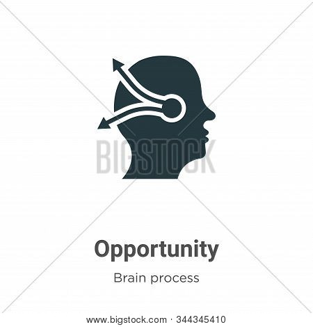 Opportunity icon isolated on white background from brain process collection. Opportunity icon trendy