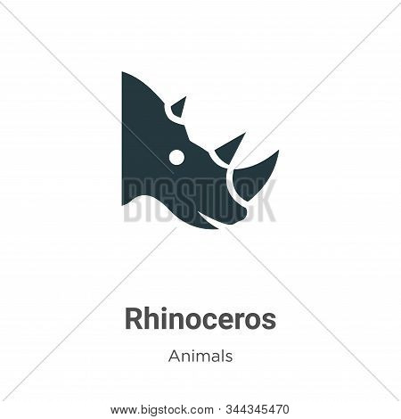 Rhinoceros icon isolated on white background from animals collection. Rhinoceros icon trendy and mod