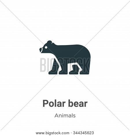 Polar bear icon isolated on white background from animals collection. Polar bear icon trendy and mod